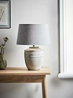 Smaller otto table lamp in white 1 harbour house pinterest stone table lamp aloadofball Gallery