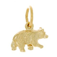 Brown/black bear charm in yellow gold Gold View, Whistler, Black Bear, Fine Jewelry, Jewellery, Contemporary Art, Lion Sculpture, Charmed, Fancy