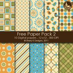 Free Scrapbooking Printable 6 Digital Papers 12x12 300 DPI