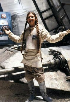 fun on hoth... - (carrie fisher)(princess leia)(esb)(star wars)(empire strikes back)