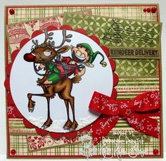 Whimsical rubber stamps that make you smile! Christmas Cards, Christmas Ornaments, Make You Smile, Reindeer, Sassy, Whimsical, Stamps, Paper Crafts, Make It Yourself