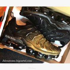 online store 5c875 7e654 Nike Vapormax Plus TN Dipped in Gold More photos to come shortly. Custom by Kylie  boon jklcustoms.bigcartel.com