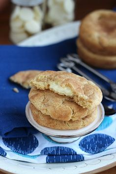 White Chocolate Filled Snickerdoodles