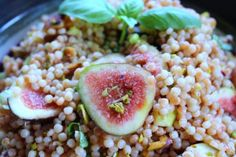 Fig and Pistachio Couscous with Basil
