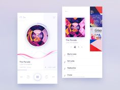 Player White version by Gleb Kuznetsov✈ - Dribbble Web Design, App Ui Design, User Interface Design, Flat Design, Graphic Design, Mobile App Design, Mobile App Ui, Musik Player, Template Web