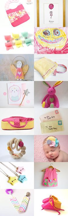 """My little Princess"" Treasury by Savousepate on Etsy -- Pinned with TreasuryPin.com #pink #yellow #blue #pastel #kids #children #babies #handmade"