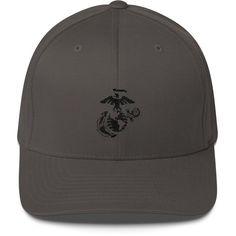 Embroidered Flexfit USMC Globe and Eagle Low Profile Cap