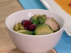 Robert's Caramelized Brussels Sprouts with Cranberries and Bacon could be the side of your dreams.