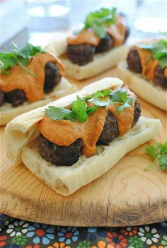 Indian-Style Meatball Sub Sandwiches / Bev Cooks