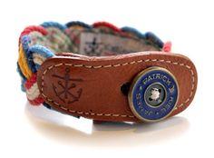 Kiel James Patrick Nautical Fabric Bracelet (Braided)
