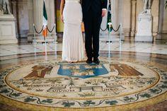 Laura and Chris | Dublin City Hall Wedding Photography Ireland #jennypackham #dublin #ireland