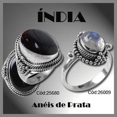 Anel de Prata com Ágata: http://www.soprata.com.br/anel-de-prata-com-agata---25680-24532.aspx/p    Anel de Prata com Pedra da Lua:   http://www.soprata.com.br/bus/0/0/MaisRecente/Decrescente/20/2////anel%20pedra%20da%20lua.aspx