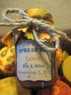 Celebrate handmade wedding favors with personalized details.  See more ideas for homemade wedding favors and party ideas at www.one-stop-party-ideas.com