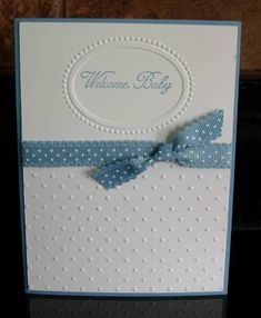 Simple but elegant baby card.