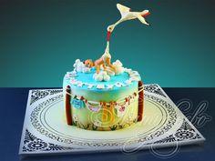 Детский торт подарочный Что принес аист № 804