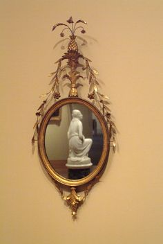 """Unknown artist (American), """"Mirror,"""" about 1790; Indianapolis Museum of Art, Gift of Mr. and Mrs. Robert McMurray, 73.118"""