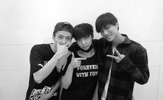 Sehun, Yixing, and Jongin
