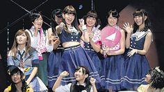 小嶋陽菜率いる「こじ坂46」。乃木坂46のパロディーで会場を沸かせた