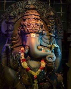 Ganesha is the Lord who shows the way of salvation through knowledge. Jai Ganesh, Ganesh Statue, Shree Ganesh, Ganesha Art, Ganesh Yantra, Shiva Hindu, Shiva Shakti, Krishna, Hanuman