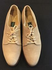 Men's Cole Haan Milkshake Beige Suede Plain Oxford Shoes 11.5 D Made In USA