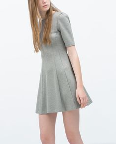 Image 2 of DRESS WITH FLARED SKIRT from Zara