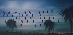 Birds Oil Paiting on Canvas, by Eliane MP Duarte