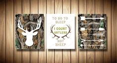 Camo nursery prints,Woodland deer print,deer kids canvas,arrow,hunting,white brown green,to go to sleep i count antlers not sheep,camouflage by Happysweetprint on Etsy