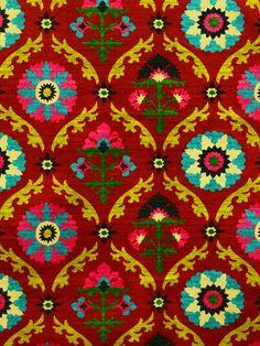 Mayan medallion desert flower / forsyth fabrics