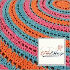 Handmade Crochet Doily Rug Crochet Rug 110cm Rug by FibsStrings