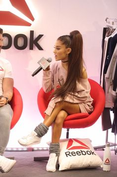 Ariana Grande on Reebok event