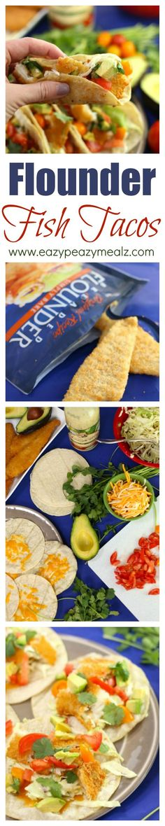 A quick and easy fish taco using breaded flounder. This comes together in 20 minutes! And is delicious #ad #SamsClubSeafood - Eazy Peazy Mealz