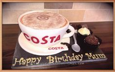 Costa Coffee Cup Cake... Coolest Birthday Cake Ideas
