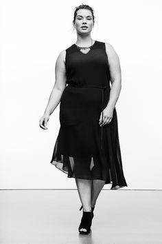82224f0ef4d5 Plus Size Simply Vera Vera Wang Simply Noir Asymmetrical Hem Shift Dress