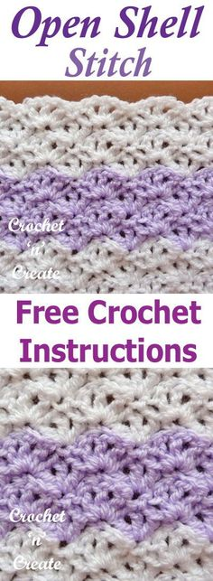 Open Shell Crochet Stitch 2019 Open shell crochet stitch a free tutorial from crochet with any yarn or hook size. The post Open Shell Crochet Stitch 2019 appeared first on Yarn ideas. Poncho Crochet, Crochet Stitches Free, Crochet Shell Stitch, Crochet Gratis, Tunisian Crochet, Afghan Crochet Patterns, Baby Blanket Crochet, Crochet Baby, Free Crochet