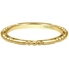 "Gabriel 14K Yellow Gold ""Beaded"" Stackable Ring · LR4909Y4JJJ · Ben Garelick Jewelers"