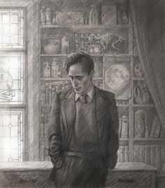 Remus Lupin by Jim Kay, Harry Potter and the Prisoner of Azkaban illustrated Edition 2017 Harry Potter Jim Kay, Harry Potter Artwork, Slytherin Harry Potter, Harry Potter Facts, Harry Potter Movies, Hogwarts, Remus Lupin, Prisoner Of Azkaban Illustrated, Harry Potter Ilustraciones