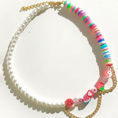 Diy Jewelry Rings, Bead Jewellery, Opal Jewelry, Cute Jewelry, Beaded Jewelry Designs, Handmade Jewelry, Pulseras Kandi, Pearl Chain, Statement Jewelry