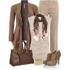 #beige #brown #outfit #women #fashion #moda #style #donna #look