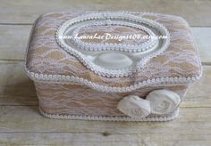 Rustic Burlap and White Lace with Rolled by LauraLeeDesigns108