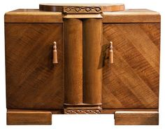ART DECO BUFFET BAR WITH SPECIAL TOP STORAGE FOR FLATWARE