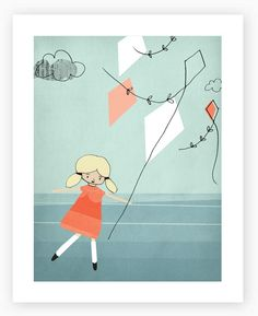 :: Sweet Illustrated Storytime :: In the sky Art Print