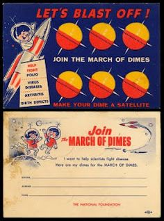 Coin collecting poster from March of Dimes