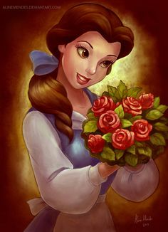 disney fanart princess belle the beauty and the beast. Belle is my favorite Disney princess!! <3