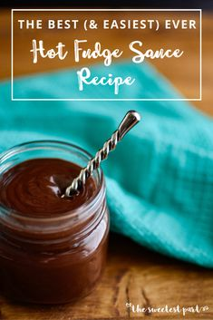 The Most Delicious Hot Fudge Sauce Recipe Ever, &You'll Be Amazed How Quick & Easy It Is! Old Fashioned Hot Fudge Recipe With Half & Half Homemade Chocolate Sauce, Chocolate Sauce Recipes, Homemade Hot Fudge, Chocolate Fudge Sauce, Hot Fudge Sauce, Homemade Ice Cream, Fudge Recipes, Chocolate Sauce Recipe For Ice Cream, Oreo Fudge