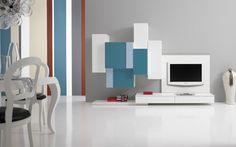 Parete attrezzata modulare effetto pixel http://www.reitanoarredamenti.it/showroom