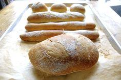 No Knead Crusty White Bread via @kingarthurflour - spray with water to make the crust (JS)