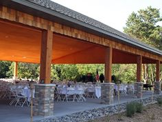 Carpenter Saint Croix Nature Center Pavillion - will need to rent chairs and tables - but has built in sound and canvas sides in case of rain.