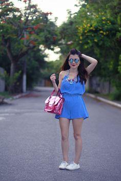 Blog da Lê-Moda e Estílo: Look - Macaquinho Azul