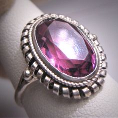 Antique Faceted Amethyst Ring Vintage Victorian Art Deco 1920.  Antique jewelry, vintage jewelry, gemstone ring, art deco, retro ring, sterling silver, wedding bridal, engagement ring, antique amethyst.  Offered by Aawsomblei antique jewelry.