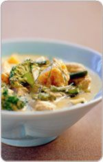 Thai Green Curry with Fish Recipe (from the Heart Foundation) Healthy Heart, Heart Healthy Recipes, Healthy Dinner Recipes, Healthy Foods, Healthy Eating, Fish Recipes, Seafood Recipes, Curry Chicken And Rice, Heart Patient